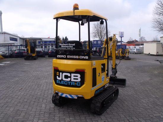 Vollelektrischer Minibagger JCB 19C-1E-TEC Null Emission !